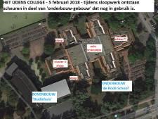 Udens College nog dicht na scheur in vloer aula; 700 leerlingen thuis