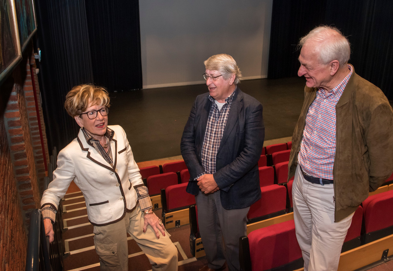 Het bestuur van Filmhuis Ermelo met vlnr: Doky Evers, Piet-Hein van Halm en Migchel Dirksen