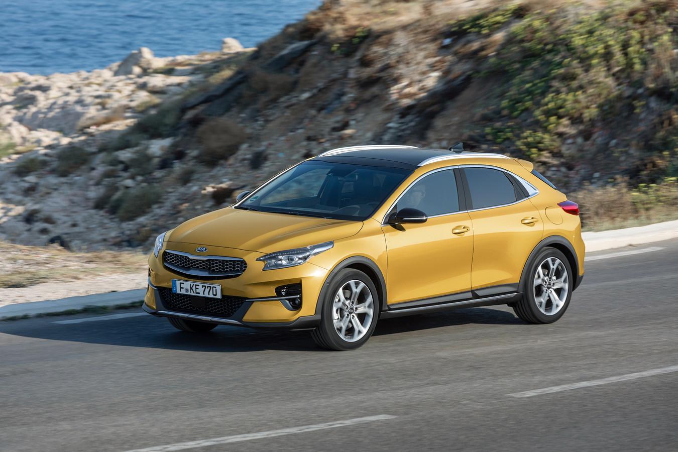 De Kia XCeed in de nieuwe kleur Quantum Yellow