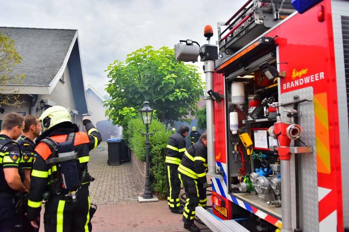 Woningbrand in Zegge.