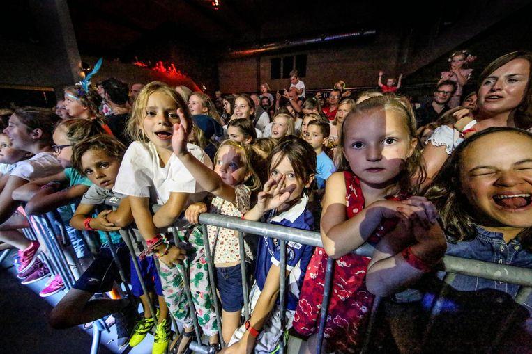De kinderen genieten van het nieuwe festival Underage.