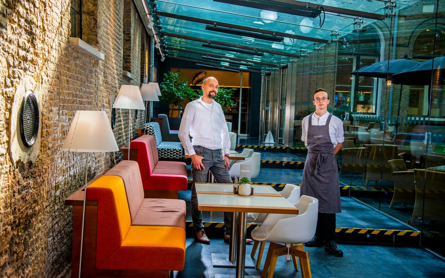 Chef Daan Vermaas en bedrijfsleider Christiaan Visser van Art & Dining in het Dordrechts Museum.