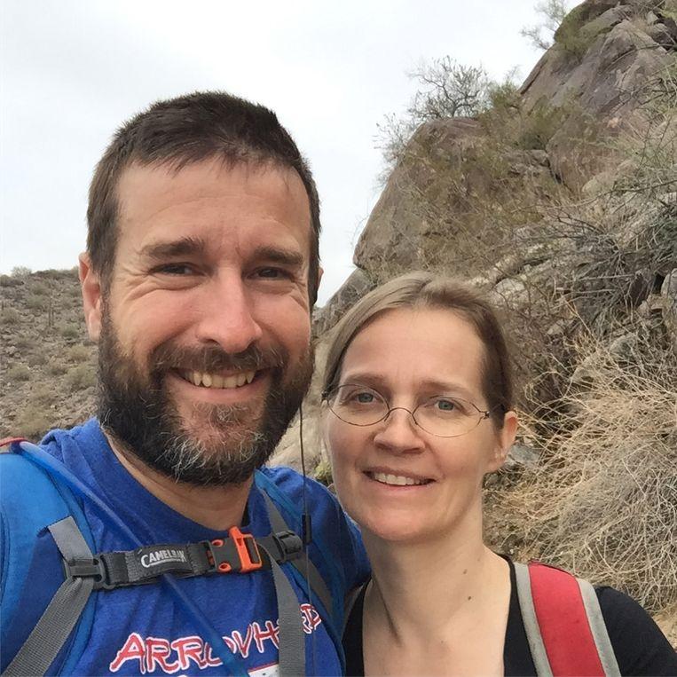 Haatprediker Steven Anderson en zijn vrouw