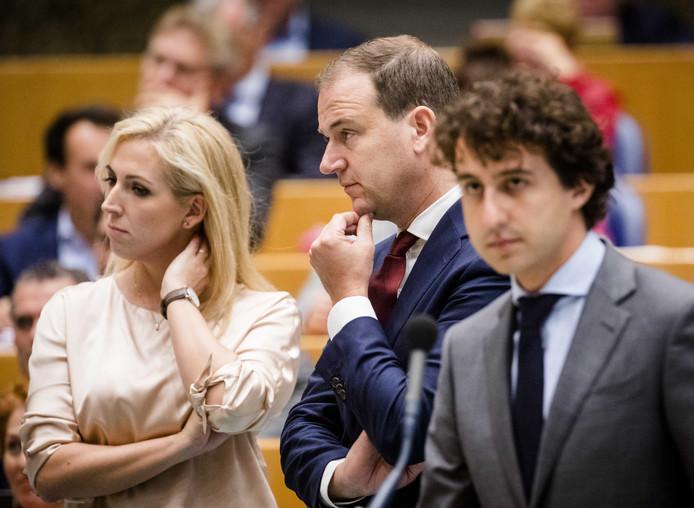 Lilian Marijnissen, Jesse Klaver (Groenlinks) en Lodewijk Asscher (PVDA) tijdens de tweede dag van de Algemene Politieke Beschouwingen