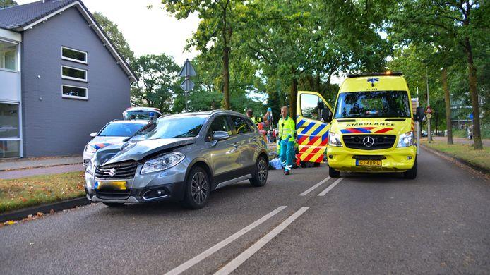Hulpdiensten na het ongeluk in Deurne.