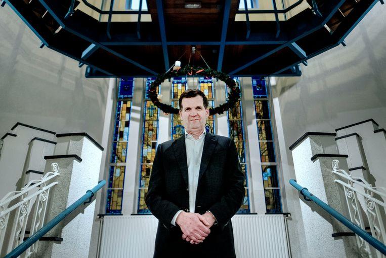 Rector Gijs van Wijlen: 'De dood zit in ons systeem. Wie in de vijfde zit, heeft het al drie keer meegemaakt.' Beeld Merlin Daleman
