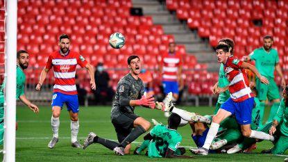 Alwéér met dank aan Courtois: Real wint nipt tegen Granada en kan volgend weekend titel pakken