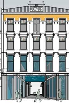 Alleen de gevel behouden? Poort door   historisch warenhuis Tilburg