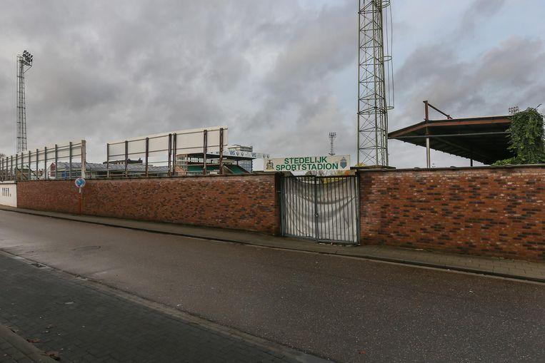 Het voetbalstadion van Sporting Hasselt.