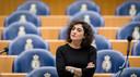 Kamerlid Sadet Karabulut (SP). Afgelopen maandag was ze nog in Herwijnen om met bezorgde inwoners te praten.
