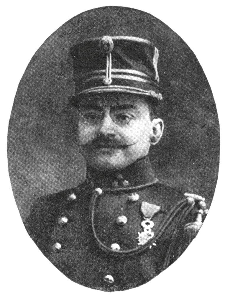 Commandant van het fort van Bronem , kapitein Adolph Rasquin