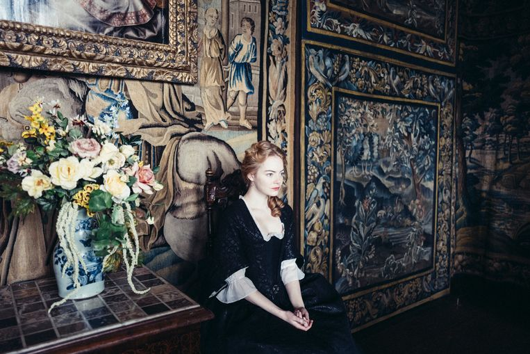 Emma Stone in The Favourite. Beeld