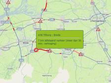 Ongeluk met 4 voertuigen op A58 bij Bavel; weg tussen Tilburg en Breda weer open