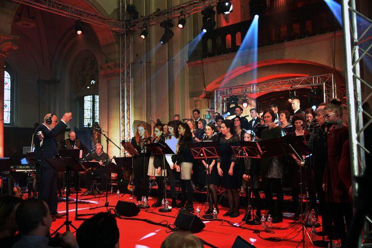 Hoeilanders zingen kerstmis