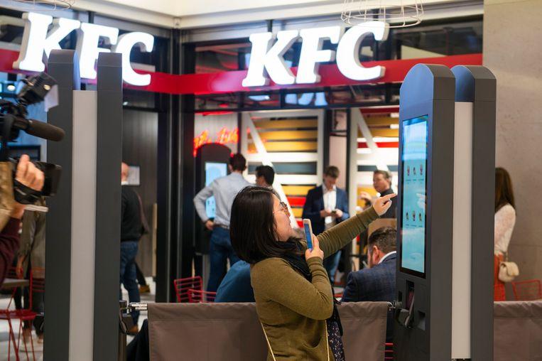 Opening van de Kentucky Friend Chicken in Vlaanderen in het shopping center van Wijnegem.