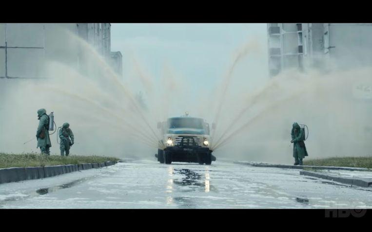 Beelden uit de trailer van HBO-serie Chernobyl. Beeld