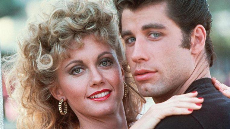 Olivia Newton-John en John Travolta in Grease. Beeld