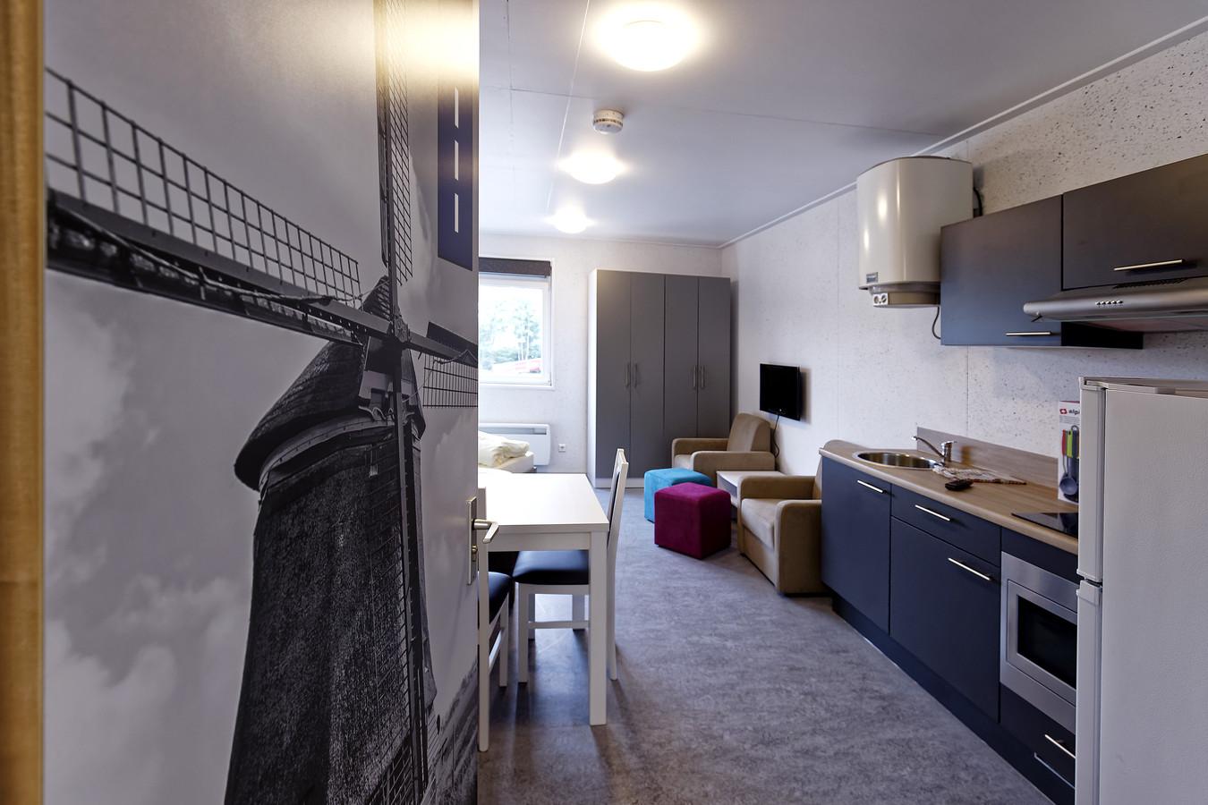 Een voorbeeld van een woonruimte voor arbeidsmigranten.