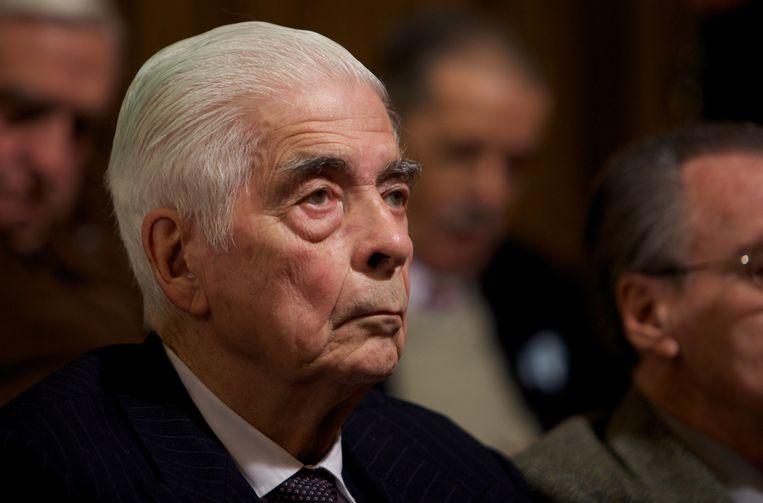 Luciano Menéndez in 2010, tijdens een rechtszaak. Beeld Hollandse Hoogte / AP   Associated Press