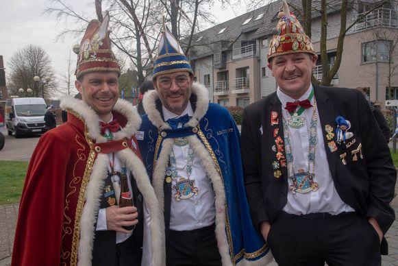 Carnaval Merelbeke met Prins Kolo en adjudant Taf.