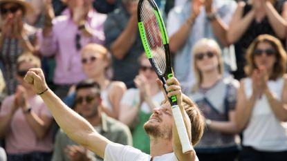 """Goffin staat voor het eerst in zijn carrière bij de laatste acht in Wimbledon: """"Op het juiste moment mijn beste tennis"""""""