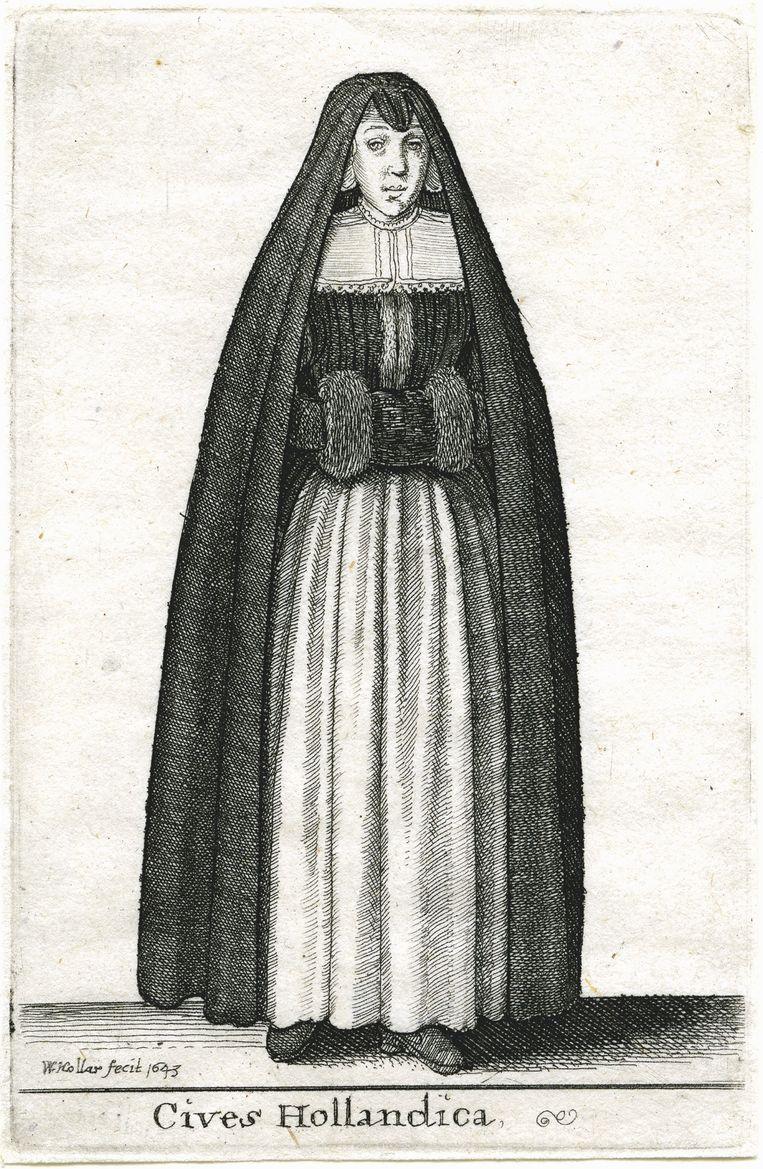 W. Hollar, Hollandse vrouw, 1643. Beeld Universiteit Biblioheek Leiden