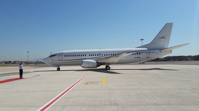 Koning en koningin maken deze week tijdens het staatsbezoek gebruik van een gehuurde Boeing 737.