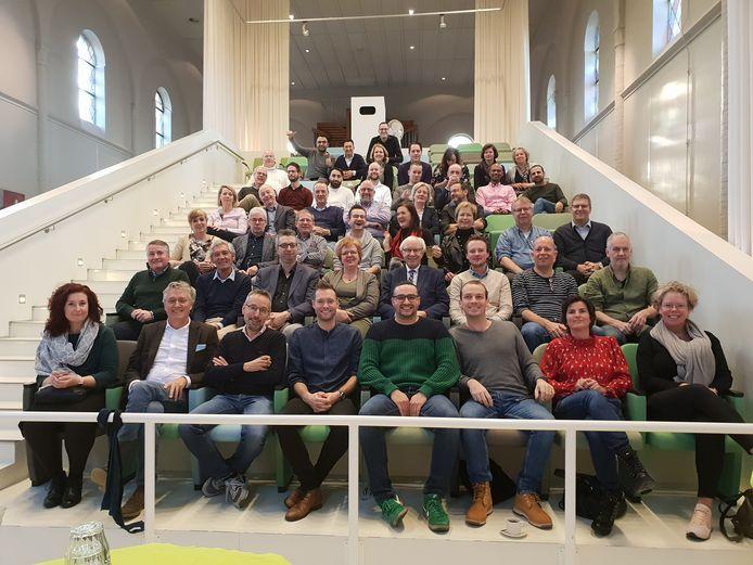 De gemeenteraad en het college van B en W van Eindhoven tijdens een heidag (archieffoto).