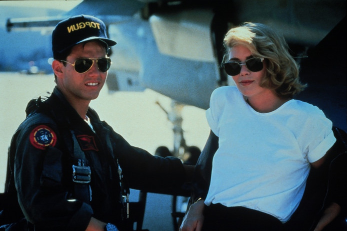 Tom Cruise in de film Top Gun.