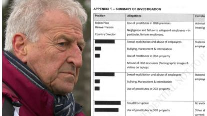 """Het interne rapport van Oxfam LETTERLIJK: Van Hauwermeiren """"bekende dat hij prostituees had ontvangen in woning"""" ngo"""