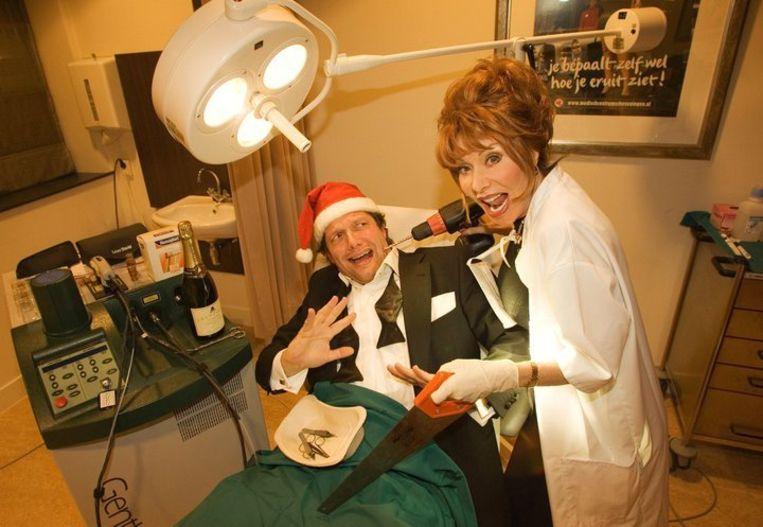 Kerstkaart met Marijke Helwegen Beeld Hélène Wiesenhaan