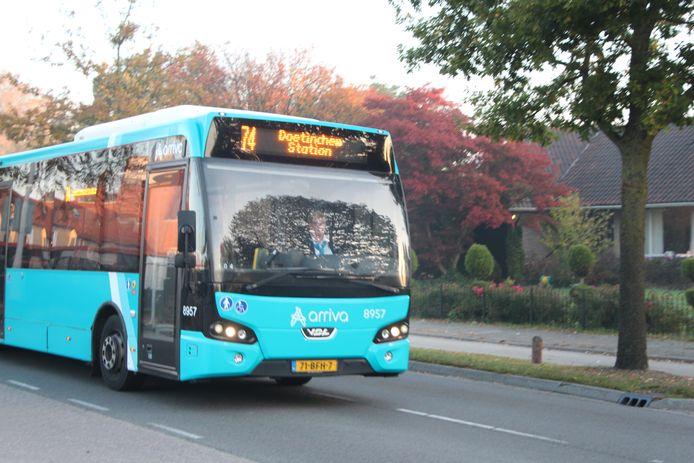 Arriva-buslijn 74 in Eibergen.