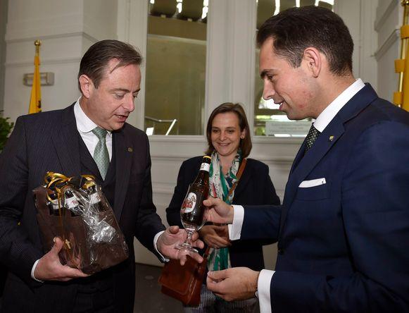 De Wever en Van Grieken bij het eerste gesprek.