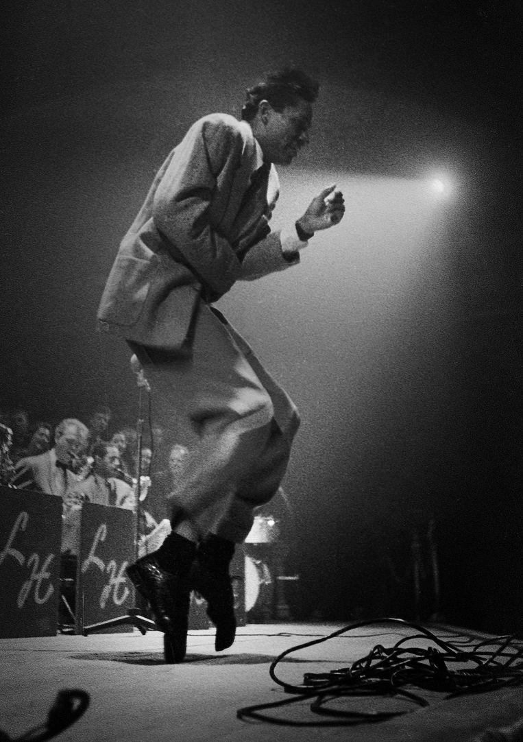Jazzmuzikant Curley Hamner. Beeld Eddy Posthuma de Boer
