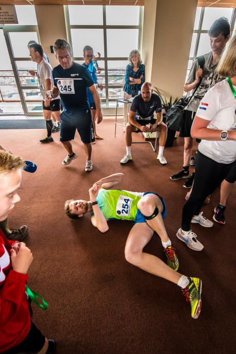NK-Traplopen in Enschede: geen recordtijd, wel veel plezier