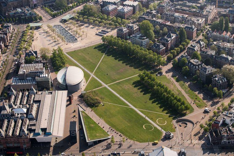 In theorie kan ook het Museumplein deels worden gevuld met terrassen.  Beeld ANP