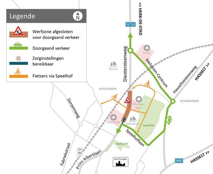 De werken aan de Diestersteenweg worden in de week van 4 januari hervat met oog op een nieuwe weg en nieuwe fietspaden.