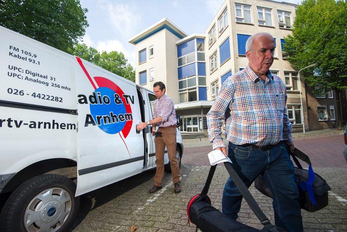 Medewerkers van RTV Arnhem.