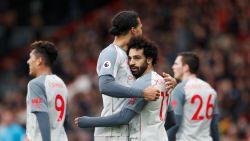 Salah andermaal grote man bij Liverpool, dat over City naar leiding springt. Knullige owngoal van Bournemouth gaat de wereld rond