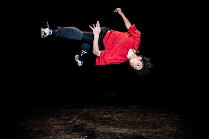 De 17-jarige breakdancer Jean Salazar Tavera uit Malden, alias Shinshan, staat zaterdagavond in de finale van Holland's Got Talent.