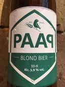 Blond bier van PAAP Bier Broeders.