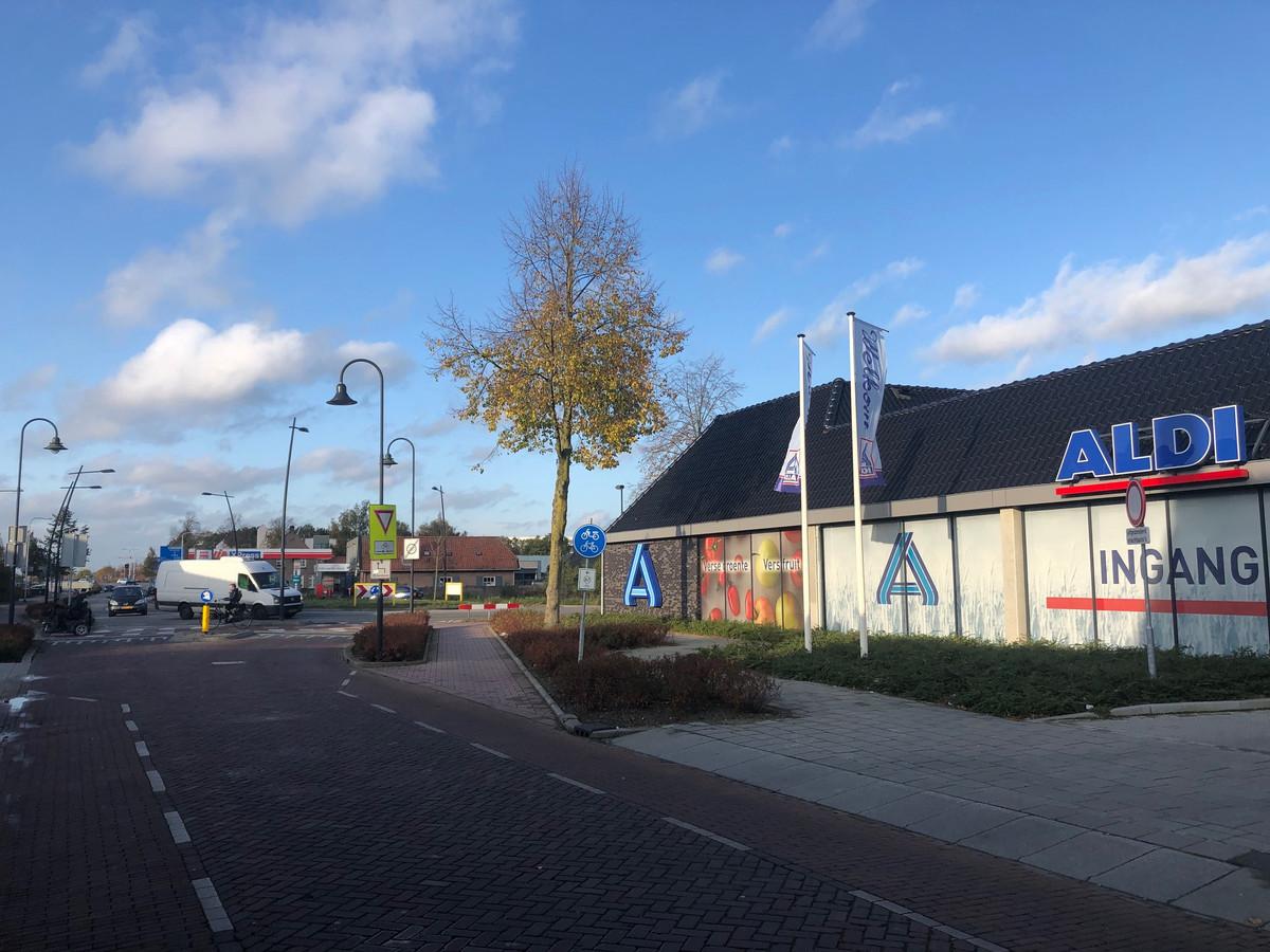 De Aldi supermarkt aan de Bitswijk in Uden, door de rechtbank herdoopt in Aldi Noord.