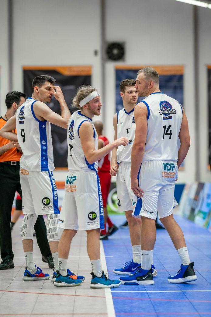 De basketballers van Batouwe willen de eredivisie in.