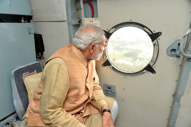 De originele foto van Modi. Beeld AFP