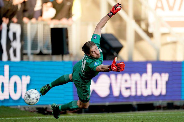 Lars Unnerstall stond bij PSV in de basis, maar dat mocht niet baten in Tilburg.   Beeld BSR Agency