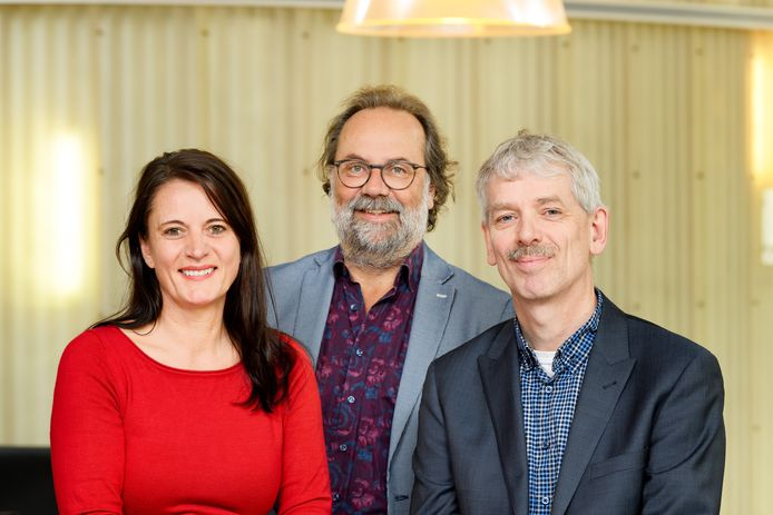 Katja Pahnke, Maarten Steinbuch en Paul Merkus van Eindhoven Engine.