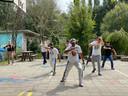 In de namiddag was er steeds een ontspannende workshops gepland, zoals een capoeira initiatie.