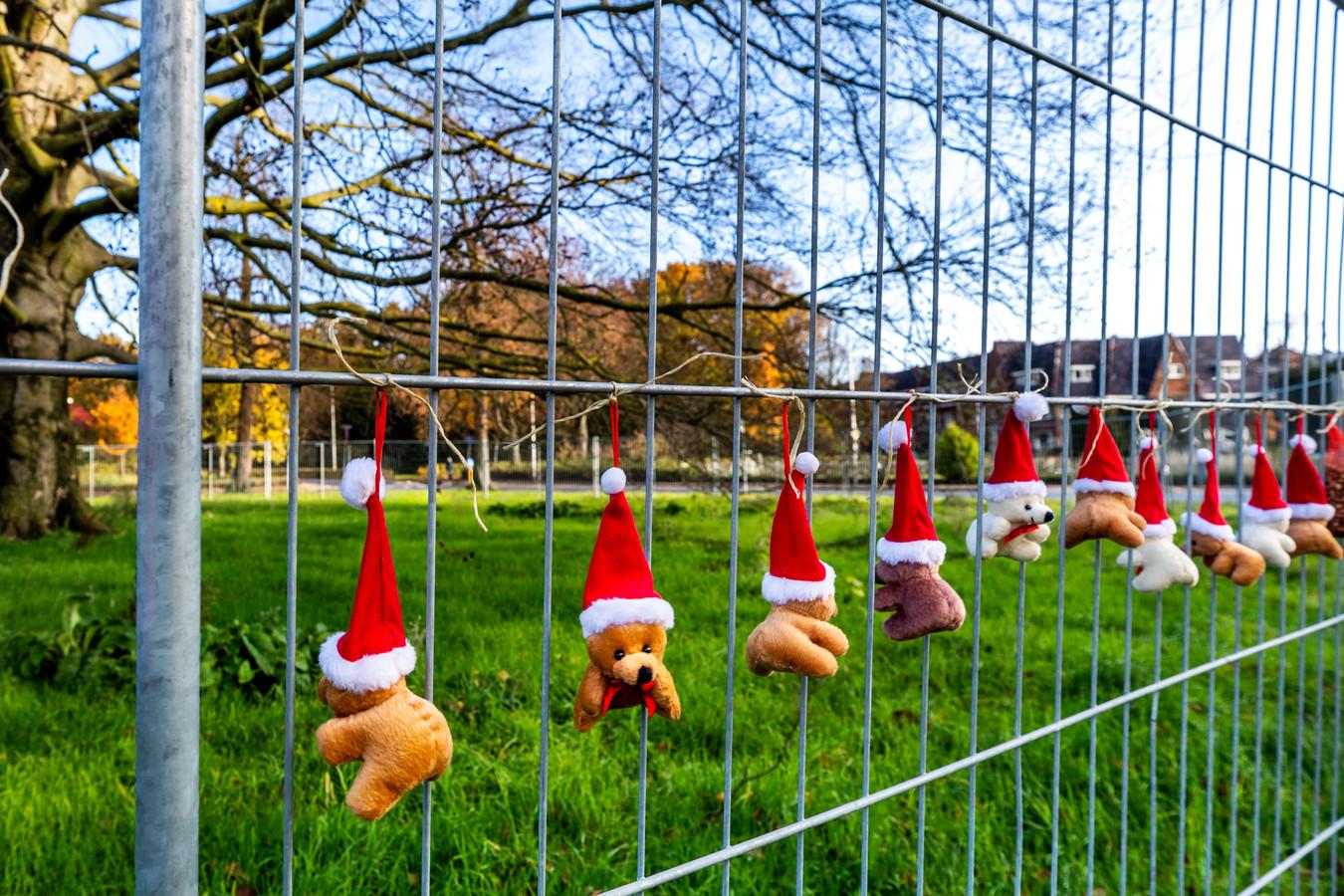 Kerstknuffels voor de ernstig zieke rode beuk bij het Wilhelminapark.