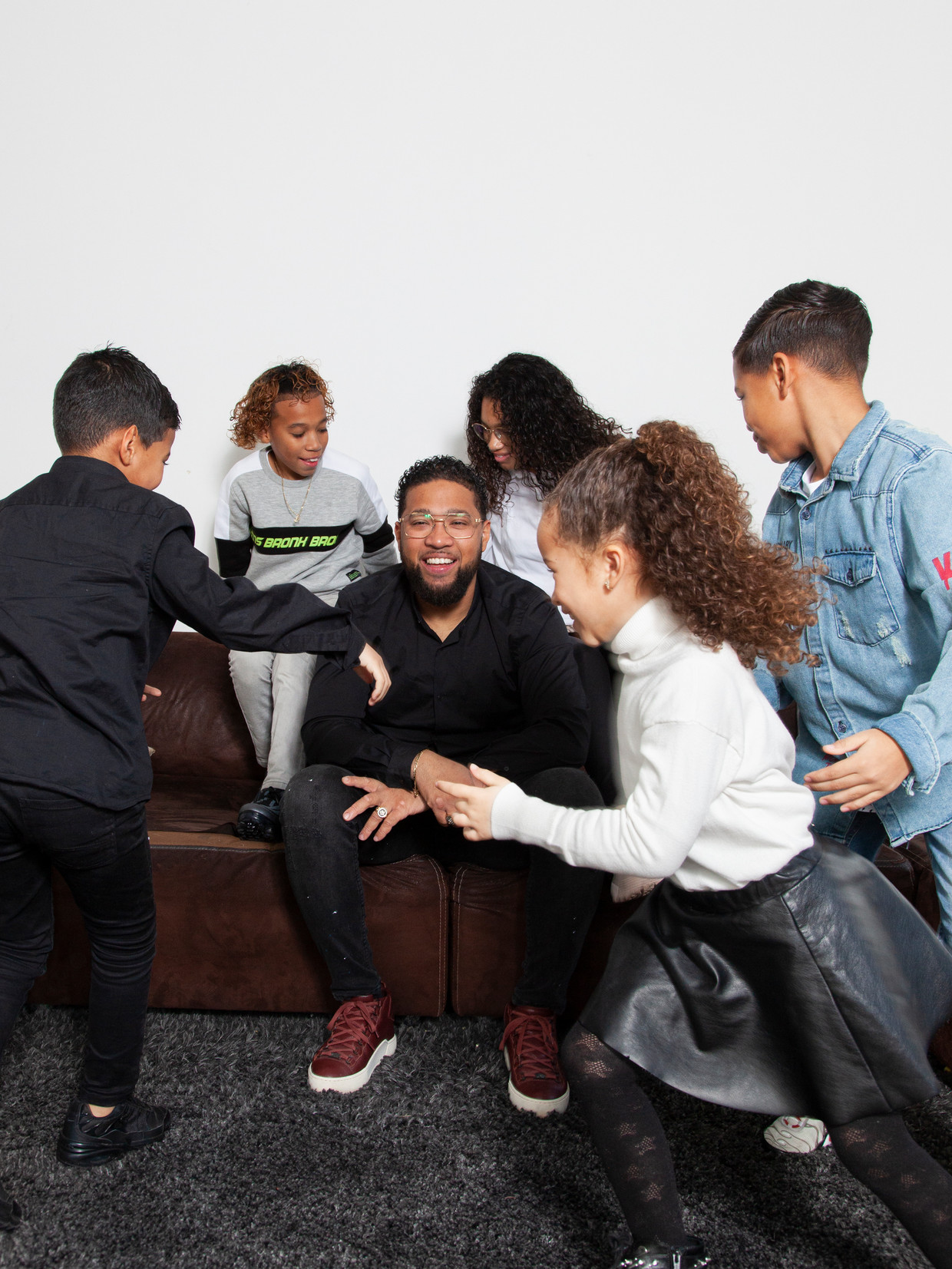 Jay lopez en zijn kinderen.