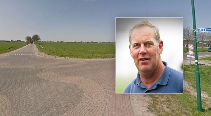 Jan Kolff van de VVD (inzet) in Altena maakt zich zorgen over de veilligheid van de kruising Midgraaf-Duijlweg in Almkerk.